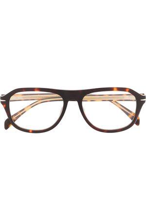 David beckham Tortoiseshell rounded frame glasses