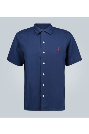 Polo Ralph Lauren Men Short sleeves - Linen-blend short-sleeved shirt