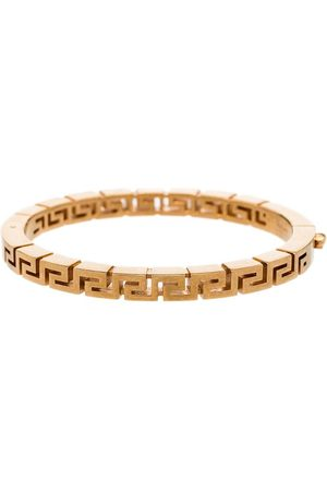 VERSACE Tone Greca bangle bracelet