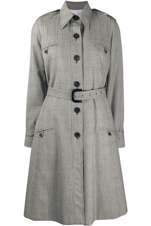 Dior 2000s check print trench coat