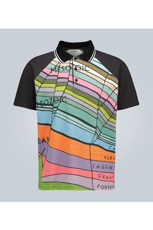 Phipps Geological printed raglan polo shirt