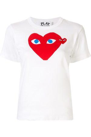 Comme des Garçons Heart print logo patch T-shirt