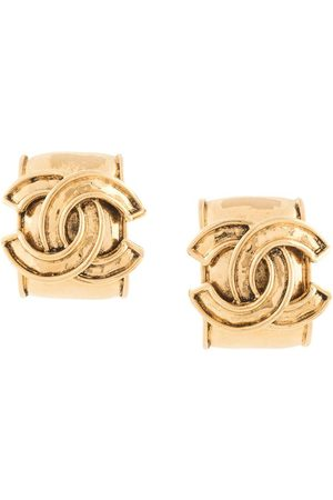 CHANEL 1994s CC logo earrings