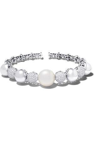 Yoko London 18kt white gold Mayfair South Sea pearl and diamond cuff