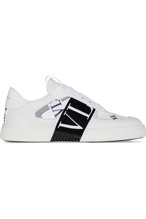 VALENTINO VL7N logo banded leather sneakers