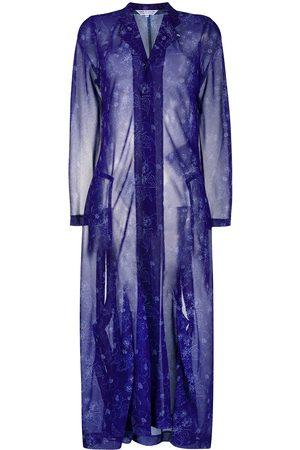 Comme des Garçons Sheer floral-print coat