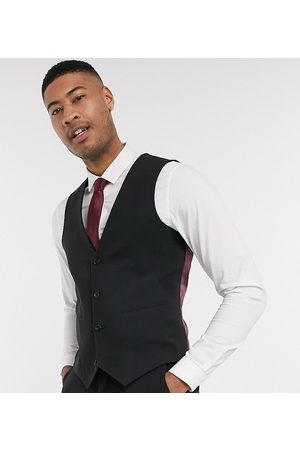 ASOS Tall super skinny suit waistcoat in four way stretch in
