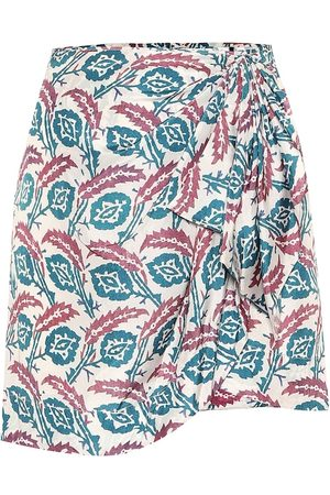 Isabel Marant Renzia printed silk miniskirt