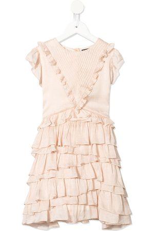 Velveteen Geena frill layered dress