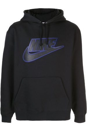Supreme X Nike leather applique hoodie