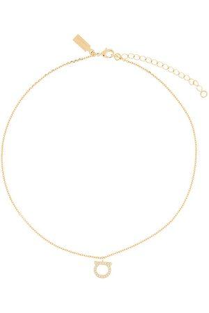 Salvatore Ferragamo Gancini crystals necklace