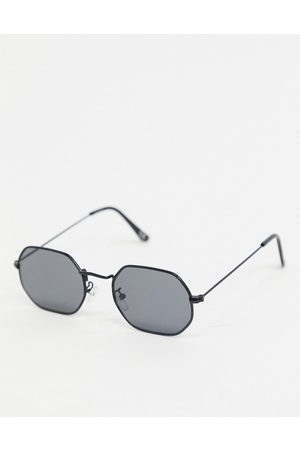 ASOS Angled sunglasses in metal with smoke lens