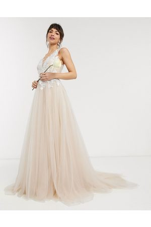 ASOS Mesh wedding dress with embroidered bodice