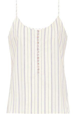 Chloé Striped cotton camisole