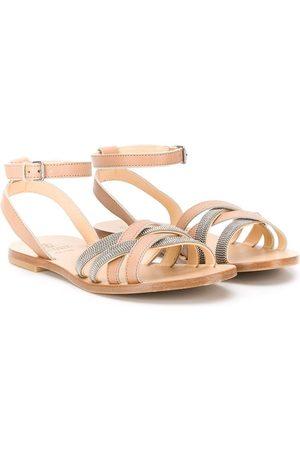 Brunello Cucinelli Caged open toe sandals