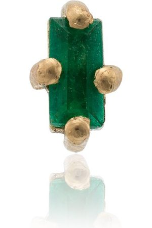 Lizzie Mandler 18k yellow gold emerald mini stud earring