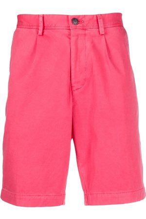 HUGO BOSS Pleated-front chino shorts