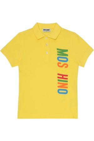 Moschino Logo cotton-piqué polo shirt