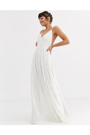 ASOS Cami wedding dress with sequin and bead embellishment