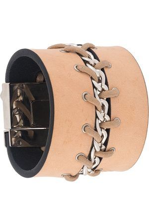 Gianfranco Ferré 2000s lace-up chain bracelet