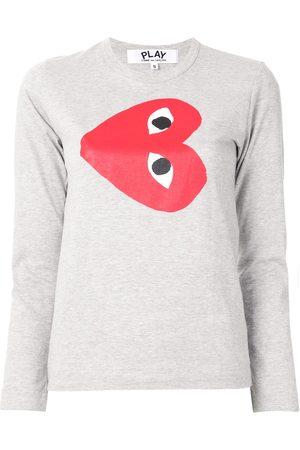 Comme des Garçons Logo-print crew neck top