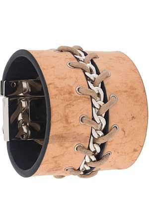 Gianfranco Ferré 2000s chain embellished lace-up bracelet