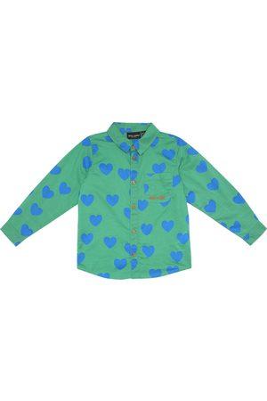 Mini Rodini Heart-print cotton shirt