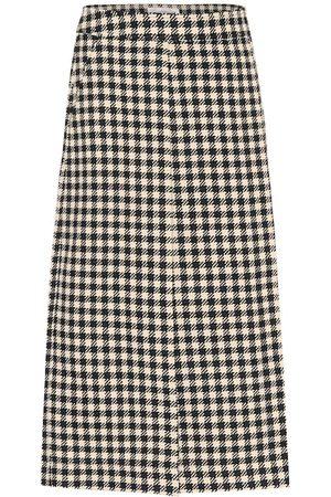 Victoria Beckham Houndstooth wrap skirt