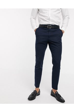 French Connection Men Skinny Pants - Wedding slim fit flannel suit trousers