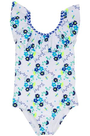 SUNUVA Girls Swimsuits - Floral printed one piece