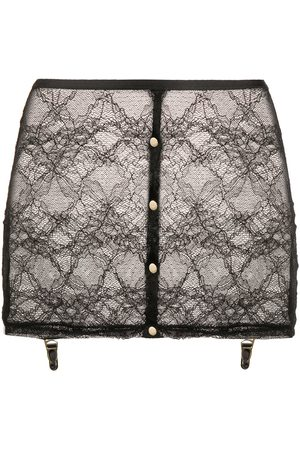 MAISON CLOSE Lace suspender skirt