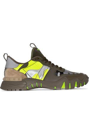 VALENTINO Garavani Rockrunner camouflage-print leather sneakers