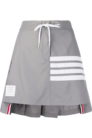 Thom Browne Striped pleated short skirt