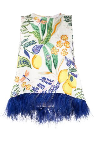La DoubleJ La Scala feather-embellished vest