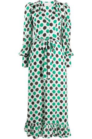 La DoubleJ Abstract print long dress