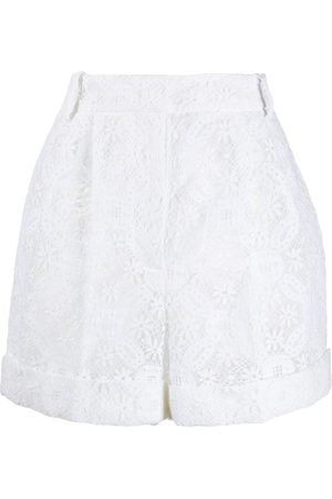 Alexander McQueen High-waisted lace shorts
