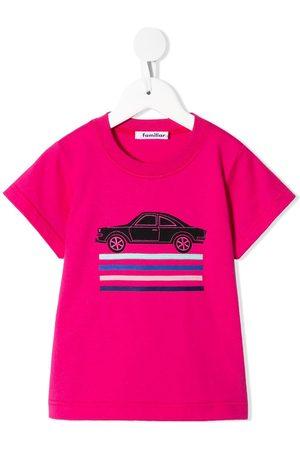 Familiar Boys Short Sleeve - Embroidered car T-shirt