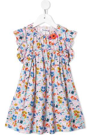 Familiar Girls Casual Dresses - Floral-print midi dress