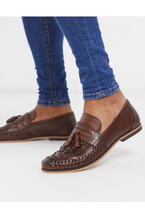 ASOS Loafers in woven leather with tassel detail