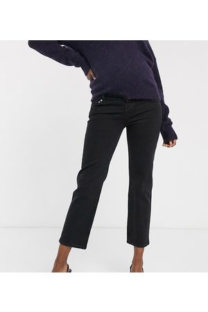 ASOS Women Straight - ASOS DESIGN Maternity High rise stretch 'slim' straight leg jeans in with over the bump band