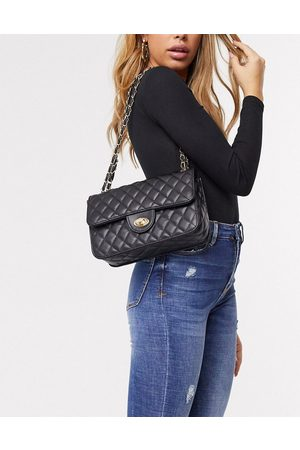 My Accessories London quilted cross body bag in with chain