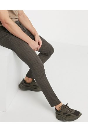 River Island Ultra skinny smart trousers in check