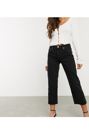ASOS Women Stretch - ASOS DESIGN Petite High rise 'effortless' stretch kick flare jeans in