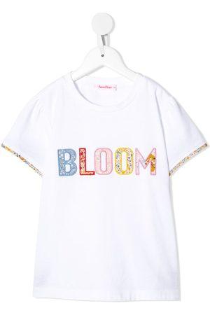 Familiar Bloom patch-embellished T-shirt