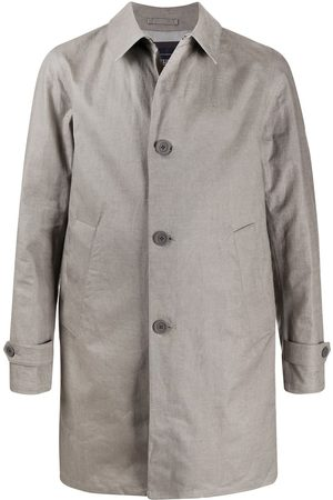 HERNO Single-breasted linen coat