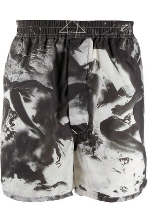 Rick Owens Dolphin photographic-print shorts