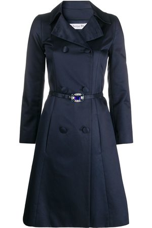 Dior 2000 pre-owned double-breasted A-line coat