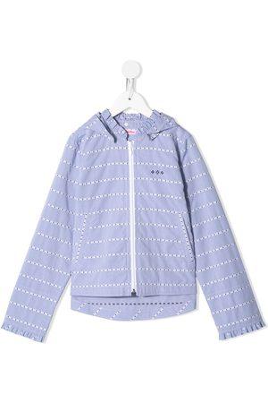 Familiar Striped hooded jacket