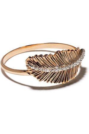 Milka 14kt feather diamond ring