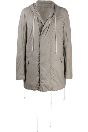 Rick Owens Hooded midi raincoat